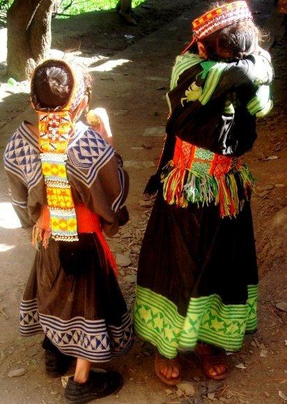 Kalashi Girls shying away from my camera
